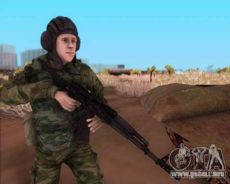 Kalashnikov AK-74M para GTA San Andreas tercera pantalla