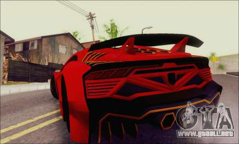 Zentorno GTA 5 V.1 para la vista superior GTA San Andreas