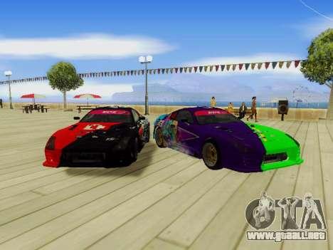 Toyota Supra Evil Empire para GTA San Andreas left