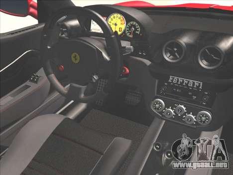 Ferrari 599 GTO para vista lateral GTA San Andreas
