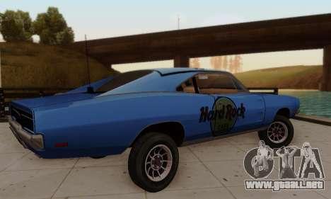 Dodge Charger 1969 Hard Rock Cafe para vista lateral GTA San Andreas