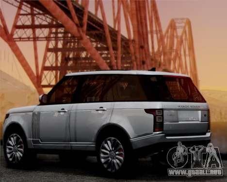 Range Rover Vogue 2014 para GTA San Andreas vista posterior izquierda