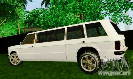 Huntley Limousine para GTA San Andreas left