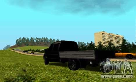 GAZ 3302 V8 de Demonios para GTA San Andreas vista posterior izquierda