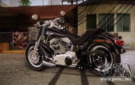 Harley-Davidson Fat Boy Lo 2010 para GTA San Andreas left