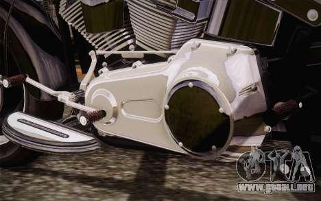 Harley-Davidson Fat Boy Lo 2010 para GTA San Andreas vista posterior izquierda