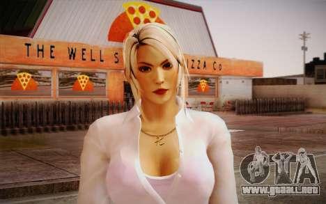 Sarah from DoA para GTA San Andreas tercera pantalla