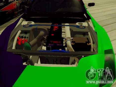 Toyota Supra Evil Empire para vista lateral GTA San Andreas
