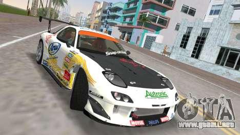 Mazda RX7 FD3S RE Amamiya Arial para GTA Vice City visión correcta