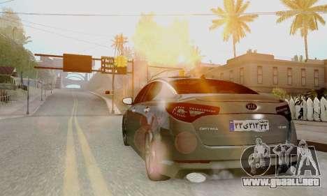 Kia Optima Stock para GTA San Andreas left