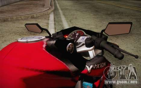 Yamaha V-Ixion 2014 para visión interna GTA San Andreas