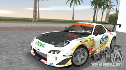 Mazda RX7 FD3S RE Amamiya Arial para GTA Vice City