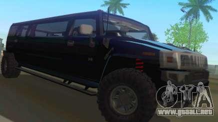 Hummer H2 Limousine para GTA San Andreas