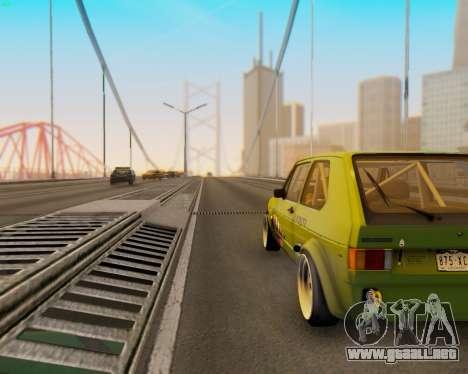 Volkswagen Golf Mk I para GTA San Andreas vista hacia atrás