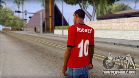 Manchester United 2013 T-Shirt para GTA San Andreas segunda pantalla