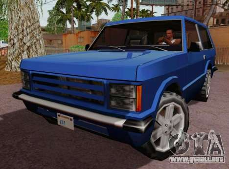 Huntley Coupe para GTA San Andreas left