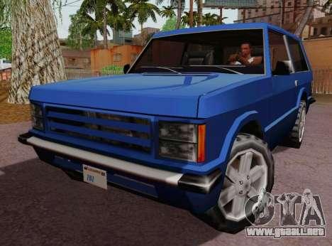 Huntley Coupe para GTA San Andreas left