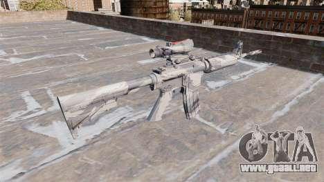 Automático carabina MA Gris de la caña de Camo para GTA 4 segundos de pantalla