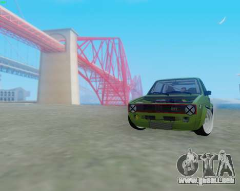 Volkswagen Golf Mk I para GTA San Andreas left