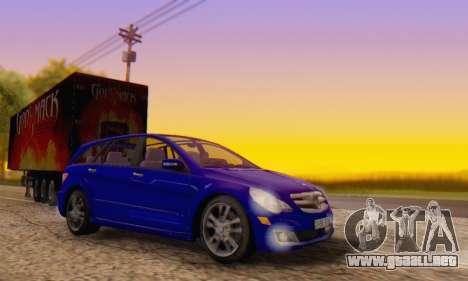 Mercedes-Benz R350 para visión interna GTA San Andreas