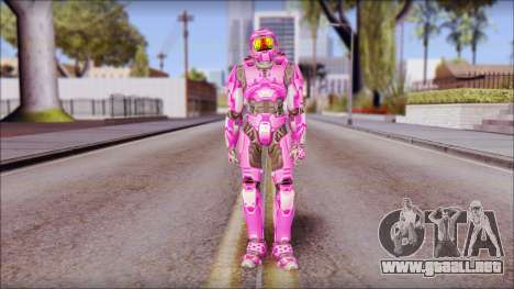 Masterchief Pink from Halo para GTA San Andreas segunda pantalla