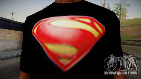 Man of Steel T-Shirt para GTA San Andreas tercera pantalla