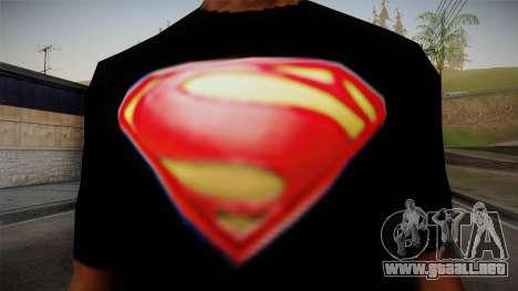 Man of Steel T-Shirt para GTA San Andreas tercera pantalla