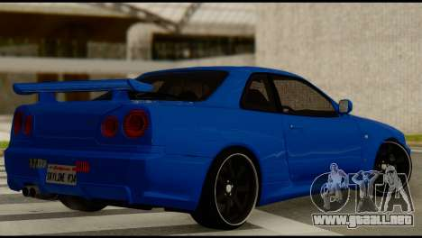 Nissan Skyline R34 para GTA San Andreas left