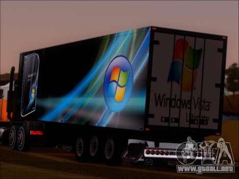 Прицеп Windows Vista Ultimate para GTA San Andreas vista posterior izquierda