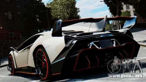 Lamborghini Veneno 2013 para GTA 4 vista hacia atrás
