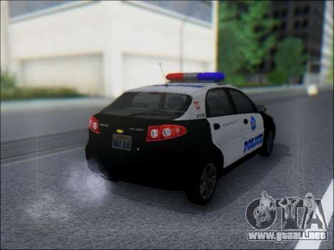 Chevrolet Lacetti Police para la visión correcta GTA San Andreas