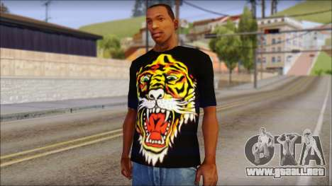 Ed Hardy Lion T-Shirt para GTA San Andreas