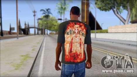 Undertaker T-Shirt para GTA San Andreas segunda pantalla