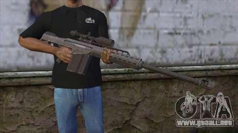 Heavy Sniper from GTA 5 v2 para GTA San Andreas tercera pantalla