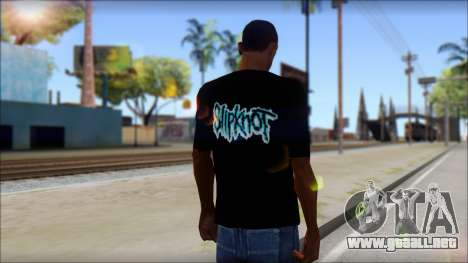 SlipKnoT T-Shirt v3 para GTA San Andreas segunda pantalla