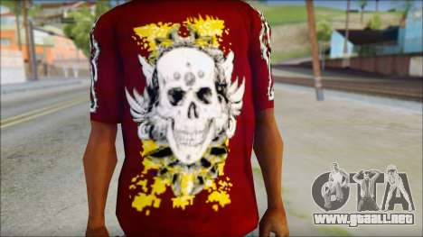 Skull T-Shirt para GTA San Andreas tercera pantalla