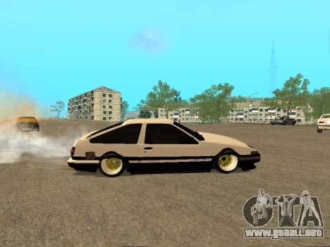 Toyota Corolla AE86 Trueno JDM para la vista superior GTA San Andreas