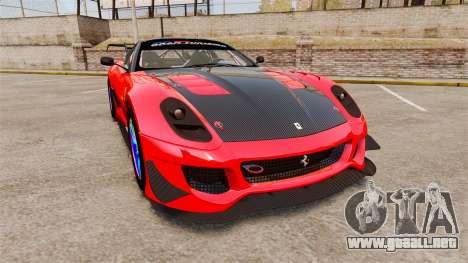 Ferrari F599 XX Evoluzione Simple CarbonFiber para GTA 4
