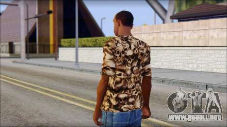 Skulls Shirt para GTA San Andreas segunda pantalla