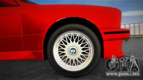 BMW M3 (E30) 1987 para GTA Vice City visión correcta