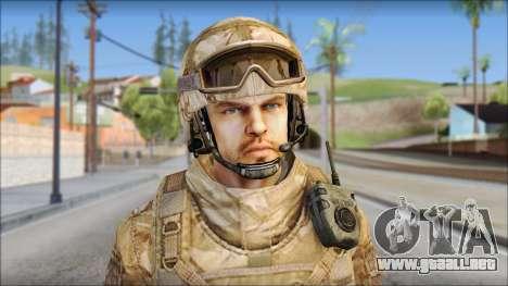 Desert SAS from Soldier Front 2 para GTA San Andreas tercera pantalla