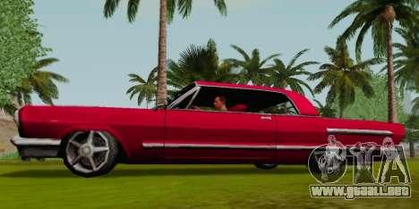 Savanna Coupe para GTA San Andreas left