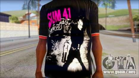 Sum 41 T-Shirt para GTA San Andreas tercera pantalla