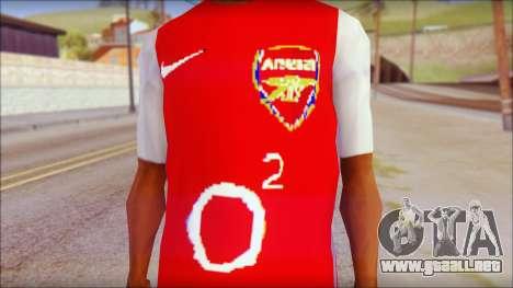 Arsenal Shirt para GTA San Andreas tercera pantalla