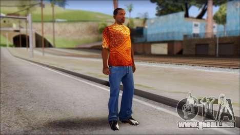 Batik Solo T-Shirt para GTA San Andreas tercera pantalla