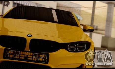 BMW M4 para GTA San Andreas vista hacia atrás