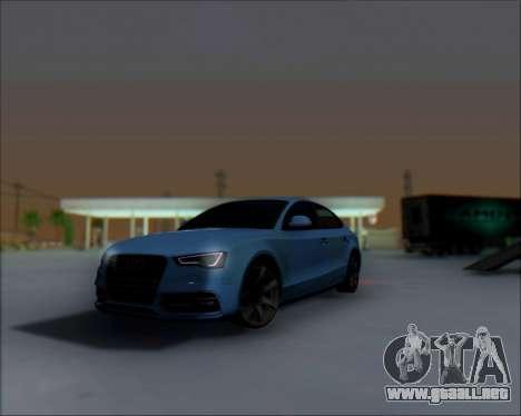 Audi A7 para GTA San Andreas vista hacia atrás