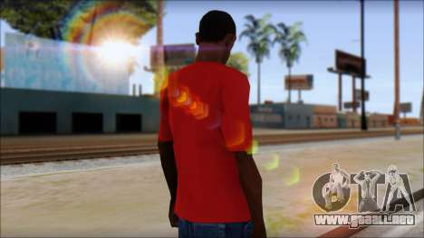Arsenal T-Shirt para GTA San Andreas segunda pantalla