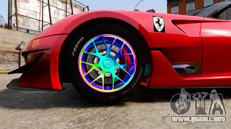 Ferrari F599 XX Evoluzione Simple CarbonFiber para GTA 4 vista hacia atrás