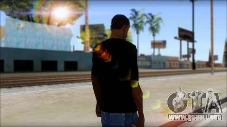 Iron Maiden T-Shirt para GTA San Andreas segunda pantalla